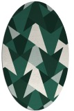 rug #1146995   oval green graphic rug