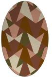 rug #1147011   oval brown retro rug
