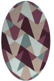 rug #1147027 | oval pink graphic rug