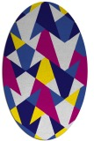 rug #1147059 | oval graphic rug