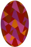 rug #1147131 | oval red graphic rug