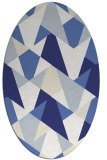 rug #1147159 | oval blue graphic rug