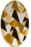 rug #1147163 | oval brown retro rug