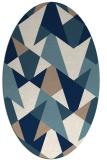 rug #1147171 | oval white retro rug