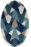 rug #1147173 | oval retro rug