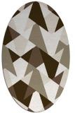 rug #1147175 | oval white retro rug