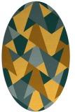 rug #1147191 | oval light-orange rug