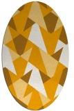 rug #1147215   oval light-orange retro rug