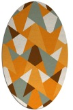 rug #1147223   oval light-orange retro rug
