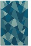 rug #1147299 |  blue-green retro rug