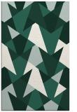rug #1147363 |  blue-green retro rug