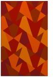 rug #1147491 |  orange retro rug