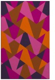 rug #1147511 |  red-orange retro rug
