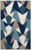 rug #1147539 |  blue-green retro rug