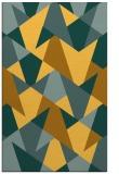 rug #1147559 |  yellow retro rug