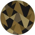 rug #1147619 | round black rug