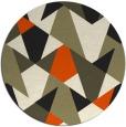 rug #1147626 | round retro rug