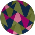 rug #1147643 | round green rug
