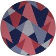 rug #1147691 | round pink retro rug