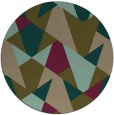 rug #1147711 | round mid-brown retro rug