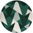 rug #1147731 | round green graphic rug