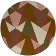 rug #1147747   round brown retro rug