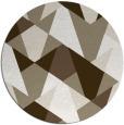 rug #1147759 | round mid-brown rug