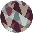 rug #1147763 | round pink retro rug
