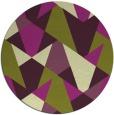 rug #1147843 | round green graphic rug