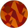 rug #1147859 | round orange retro rug