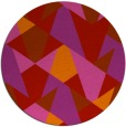 rug #1147867 | round red retro rug