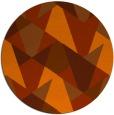 rug #1147871 | round red-orange retro rug