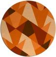 rug #1147875 | round red-orange retro rug