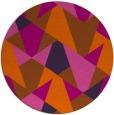 rug #1147879 | round red-orange graphic rug