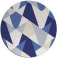 rug #1147895 | round white retro rug