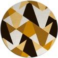 rug #1147899 | round brown retro rug