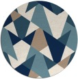 rug #1147907 | round blue-green retro rug