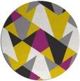 rug #1147923 | round yellow retro rug
