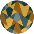 rug #1147927 | round yellow rug