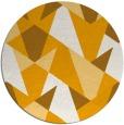 rug #1147951 | round light-orange retro rug
