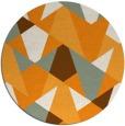 rug #1147959 | round light-orange retro rug