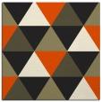 rug #1148359 | square black retro rug
