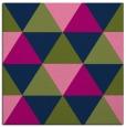 rug #1148379   square green retro rug