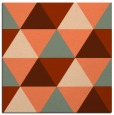 rug #1148555 | square red-orange geometry rug