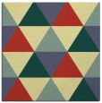 rug #1148667 | square blue-green popular rug