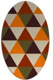 rug #1148703 | oval orange retro rug