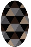 rug #1148715 | oval beige retro rug