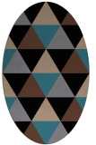 rug #1148719 | oval brown retro rug