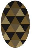 rug #1148723 | oval mid-brown rug
