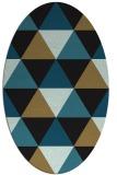 rug #1148731 | oval mid-brown retro rug